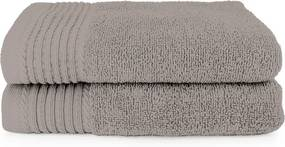 The One Towelling 2-PACK: Handdoek Deluxe - 50 x 100 cm - Taupe