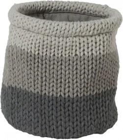 Opbergmand Sealskin Knitted Acryl Grijs 15x15cm