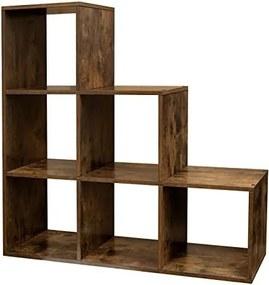 Loods 1 Roomdivider/ Open Opbergkast - Kubus - Wit - 6 vakken - 97,5 x 97,5 x 29 cm (B x H x D)