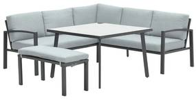 Tropea lounge dining set 5-delig - mint grijs