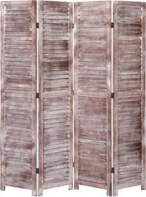 Kamerscherm met 4 panelen 140x165 cm hout bruin