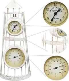 Wandklok met thermometer vintage stijl