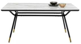 Kare Design South Beach Retro Eettafel Met Marmer - 160 X 90cm.