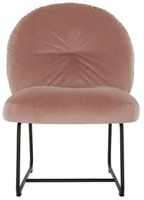 Must Living Bouton Fluwelen Design Fauteuil Roze