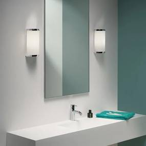 Astro Monza Classic wandlamp 250 exclusief E27 CFL chroom 12.5x8.9x19cm IP44 staal A 0952