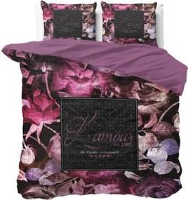 DreamHouse Bedding Vintage Amour - Zwart 1-persoons (140 x 220 cm + 1 kussensloop) Dekbedovertrek
