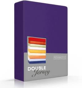 Romanette Luxe Dubbel Jersey Hoeslaken - Paars 80/90/100 x 200/210/220 cm