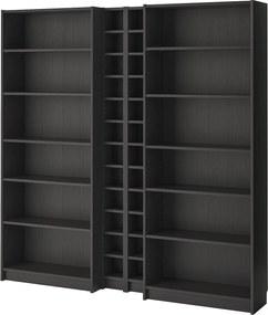 IKEA BILLY / GNEDBY Boekenkast 200x28x202 cm Zwartbruin Zwartbruin - lKEA