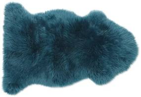 Helgar extrakleine schapenvacht, 60 x 90 cm, donkerturkooisblauw