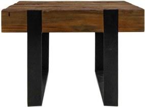 HSM Collection salontafel Norton - naturel/zwart - 50x50x35 cm - Leen Bakker