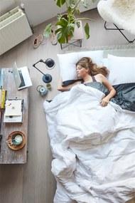 Emma   Dekbedovertrekset Serene lits-jumeaux: breedte 240 cm x 200/220 cm + 2 x 60 antraciet dekbedovertreksets katoen beddengoed   NADUVI outlet