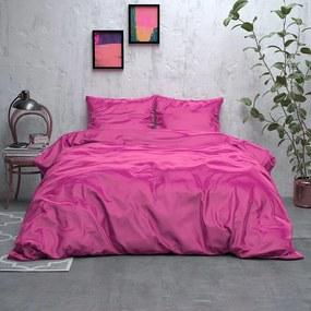 Sleeptime Elegance Satijn Geweven Uni - Hot Pink 1-persoons (140 x 220 cm + 1 kussensloop) Dekbedovertrek