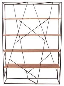 Industriele Roomdivider Met 4 Planken - 140x40x200cm.