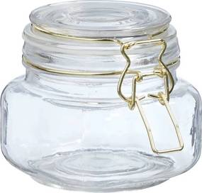 Voorraadpot Glas Helder Goud