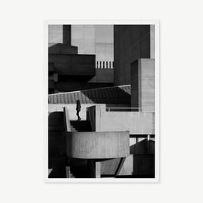 Architecture and Silhouette ingelijste print, A2, zwart & wit