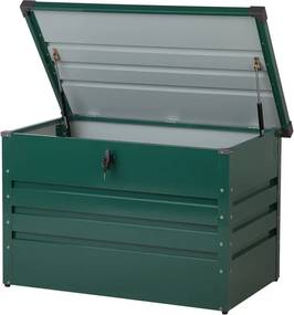 Kussenbox staal donkergroen 100x62 cm CEBROSA