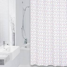 Douchegordijn Differnz Textiel Tips Polyester Multi 180x200cm
