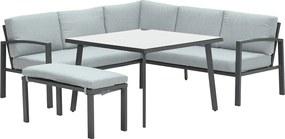 Garden Impressions Tropea lounge dining set 5-delig - mint grijs