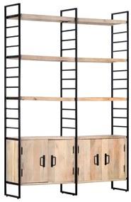 Medina Boekenkast met 4 schappen 124x30x180 cm massief mangohout