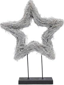 Rivièra Maison - Lovely Christmas Star On Stand - Kleur: groen