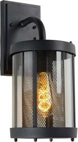 Lucide wandlamp buiten MAKKUM IP23 - zwart - 16x21x37 cm - Leen Bakker
