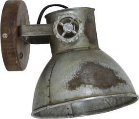 Wandlamp ELAY - hout bruin+industrieel