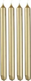 Huishoudkaarsen - 29 Cm - Goud - 4 Stuks (goud)