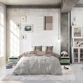 Sleeptime Elegance Langley - Taupe 1-persoons (140 x 220 cm + 1 kussensloop) Dekbedovertrek