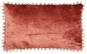 Rivièra Maison - Pompon Pillow Cover 50x30 - Kleur: Orange