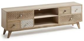 Kave Home Hoob Authentiek TV-meubel Van Hout - 160x35x51cm.