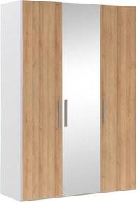 Goossens Kledingkast Easy Storage Ddk, Kledingkast 153 cm breed, 220 cm hoog, 2x draaideur en 1x spiegel draaideur midden