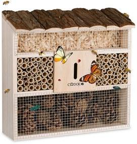 Cadoca Insectenhotel nestkastje 30,5x9,5x31cm