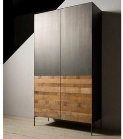 Tower Living Wandkast Metaal En Hout Pandora - 110x45x201cm.