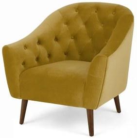Tallulah fauteuil, vintage goud fluweel