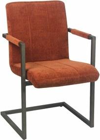 Viverne | Eetkamerstoel Chairactor - totaal: breedte 54 cm x diepte 61 cm x hoogte cognac eetkamerstoelen textiel, metaal | NADUVI outlet