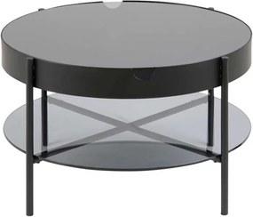 Bijzettafel Myrdal - zwart - 45xØ75 cm - Leen Bakker