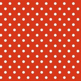 Tafelzeil Rood Witte Polkadot Stippen