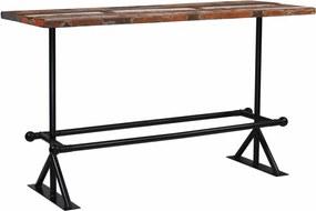 Bartafel 180x70x107 cm massief gerecycled hout meerkleurig