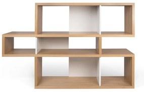 TemaHome London Lage Design Boekenkast Eiken-wit - 156x34x100cm.