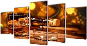 Canvasdoeken whiskey en sigaar (200 x 100 cm)