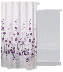 NIET MEER LEVERBAAR Douchegordijn Differnz Flos Polyester 180x200 cm Paars