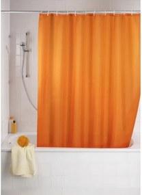 Douchegordijn Wenko Polyester Oranje 180x200cm met Anti-Schimmel Behandeling