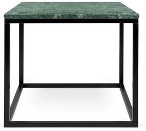 TemaHome Prairie Bijzettafel Van Groen Marmer-zwart - 50 X 50cm.