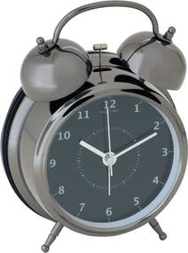 Nextime | Wekker Wake Up ø 23 cm wit klokken zwart  | NADUVI outlet