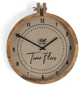 Rivièra Maison - RM Time Flies Wall Clock - Kleur: naturel