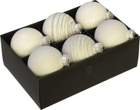 Luxe kerstballen set wit - 72 delig