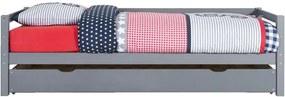 Bed Ties (incl. bedlade) - grijs - 90x200 cm - Leen Bakker