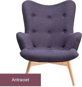 Kare Design Angels Wings Design Fauteuil Donkergrijs Vilt