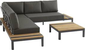4 Seasons Outdoor Meridien loungeset 4-delig - grijs