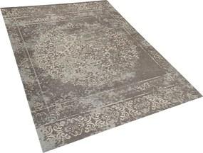 Vloerkleed taupe/grijs 160 x 230 cm laagpolig BEYKOZ